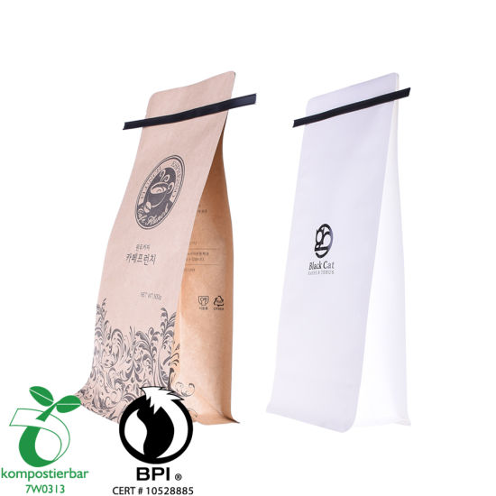Cremallera de fondo plano de embalaje compostable al por mayor en China