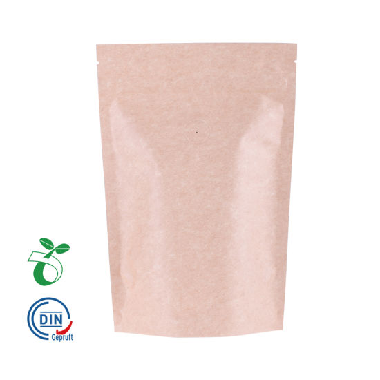 Reciclar bolsas de plástico de papel Kraft bolsa de cremallera biodegradable al por mayor